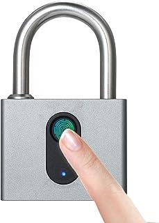 Galapara指紋ロック タッチロック 指紋認証 スマートロック アルミニウム 防水 USB充電式 スーツケース バッグ 自転車 ジム オフィス 学校 家庭防犯用