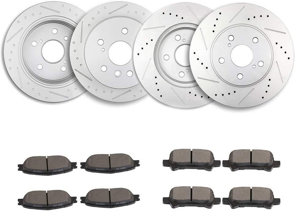 TUPARTS Brake Disc Rotors + 買い物 CeR-amic Rear Pads 20 期間限定特価品 for Fits Front