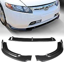 Black MotorFansClub Side Skirt Extension Splitter fit for compatible with Honda Civic 4 Door Sedan 2006-2011 Lower Body Kit Rocker Panel