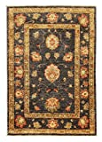 Nain Trading Ziegler Farahan 118x82 Orientteppich Teppich Läufer Dunkelgrau/Beige Handgeknüpft Pakistan