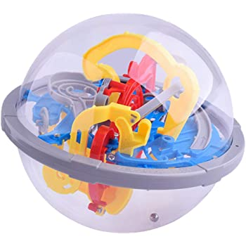 Maze Ball with 100 Obstacles,Magic Puzzle Game Challenging Barriers Education Toy Children Toys