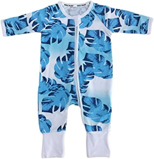 Kids Tales Baby Boys Pineapple Footed Zipper Pajama Sleeper Cotton Romper(Size 4-24M)