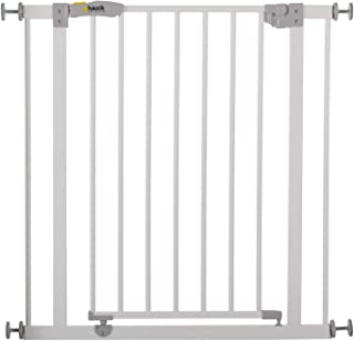 Hauck Open'N Stop Safety Gate, 74-81 cm with 9 cm Extension, White
