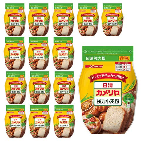 カメリヤ 日清 1kg x 15袋 (1ケース)(代表的な高級パン用粉-強力粉)