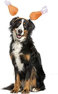 BWOGUE Turkey Leg Dog Headband for Thanksgiving Holiday Drumstick Boppers Party Accessory Thanksgiving Costume for Dogs