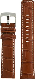 Watch Band Honey Brown Leather Crocodile Grain Sport Model 20 Millimeter Tech Swiss