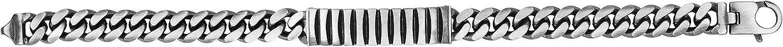 925 Sterling Spasm price Silver Men's Gunmetal ID Cur Bar Miami High order Style Cuban