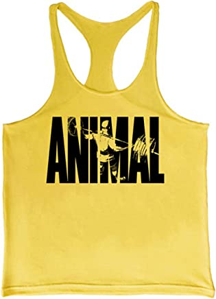 c4ab7c3a37491 Cabeen Hommes Animal Musculation Stringer Bodybuilding Débardeur Tank Tops  Sport Shirt