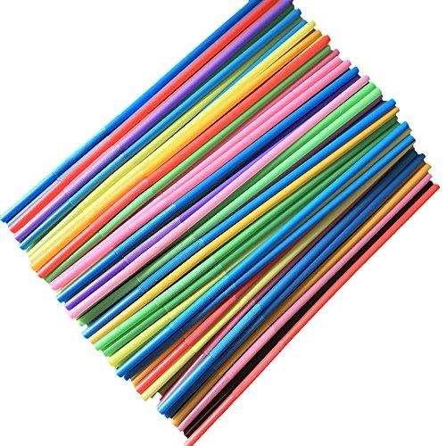 Mehrfarbig Plastik Strohhalme, 100 Strohhalme Kunststoff, Trinkhalme Plastik. Strohhalme Plastik,strohhalm Plastik,strohhalme Plastik,Flexibel, Kunststoff, Mehrfarbig, Biegsam Plastik strohhalme