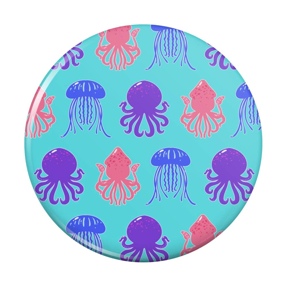 Cute Large special price !! Jellyfish Octopus Squid Tentacles Pocket Pattern Ranking TOP5 Compact Pu