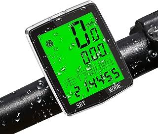 サイクルコンピューター ROTEK 高性能 サイクルメーター 自転車コンピューター 2.3インチ大きい液晶ディズプレイ ナイトモード(バックライト)搭載 測定の正確性が高い有線式 ステムやオーバーサイズのハンドルバーに対応 実用性機能が多い「速度・積算距離・区間走行距離・平均速度・最大速度・区間走行時間・積算時間・温度・最高温度・最低温度・ストップウオッチ・カウントダウン距離・カウントダウン・踏み週波数・カロリー・脂肪・時計・日付」