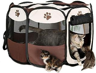 ペットサークル 犬 猫 ハウス 折りたたみ ペットテント プレイサークル 八角形 ケージ L 91*91*58cm 通気性 アウトドア コンパクト 軽量 防水