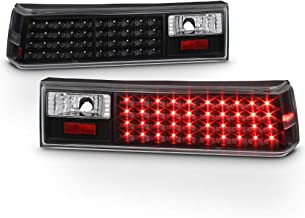 ACANII - For Black 1987-1993 Ford Mustang LED Tail Lights Brake Lamps 87-93 Left+Right Pair