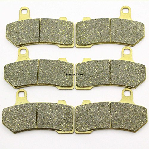 Master Chen Front Rear Brake Pads Brakes for Harley Davidson Touring FLHX Street Glide 2008-2014 FA409FR