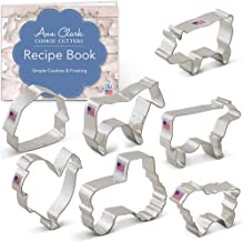 Ann Clark Cookie Cutters 7-Piece Farm Cookie Cutter Set with Recipe Booklet, Rooster, Cow, Pig, Lamb, Horse, Barn and Tractor