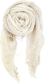 "Chan Luu Women's Combo Cashmere Silk Scarf 62""x 58"" in Eggshell"