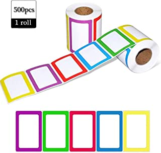 Name Tag Label 500PCS 3.5 x 2.25 Inch Name Tag Stickers Colorful Classification Label Sticker for School Office and Home Use