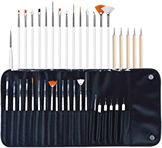 comprar comparacion Set de 20 Accesorios para Diseño de Uñas,Nail Art Designing Painting Dotting Detailing Pen Brushes Bundle Tool Kit,15 Pinc...