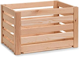 Zeller 13362 Boîte de rangement en bois naturel 40 x 30 x 24 cm