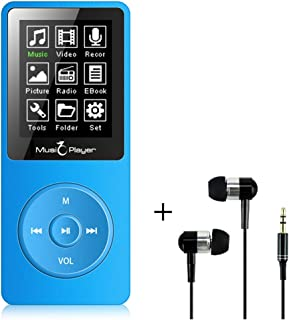 MP3 Player, BTSMONE 8GB mp3 Music Player, Portable Walkman Build-in Speaker with FM Radio and Voice Recorder/Ebook Reader,...