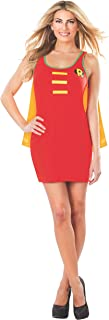 Rubie's DC Comics Justice League Superhero Style Adult Dress with Cape Robin, Red, Medium Costume