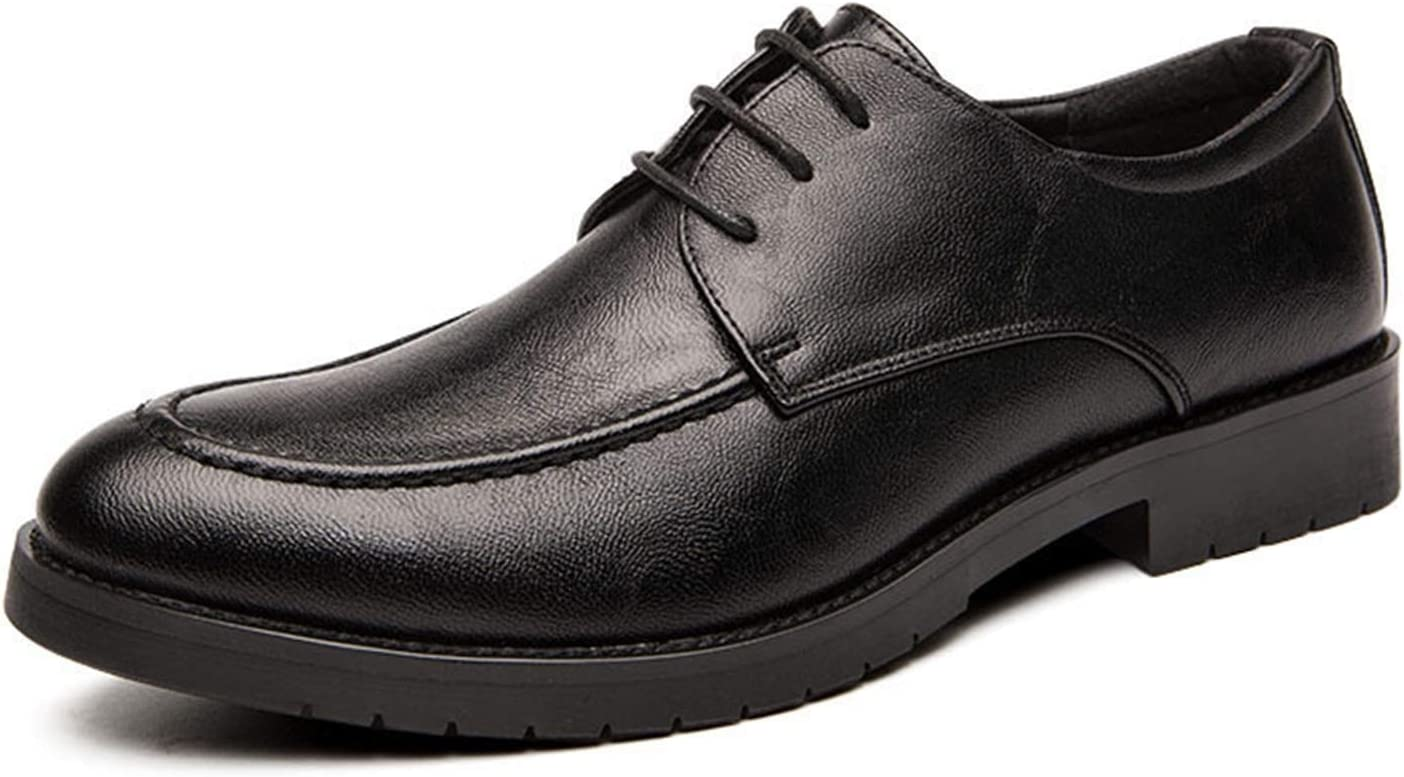 Yinuopu The Men wore Loafers for Heel Sale price Block Cheap super special price Burnish Oxfords