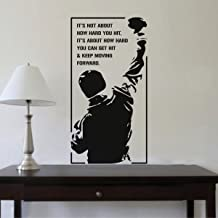 Rawpockets 'Rocky Keep Moving Forward' Wall Sticker (PVC Vinyl, 59 cm x 31cm, Black)