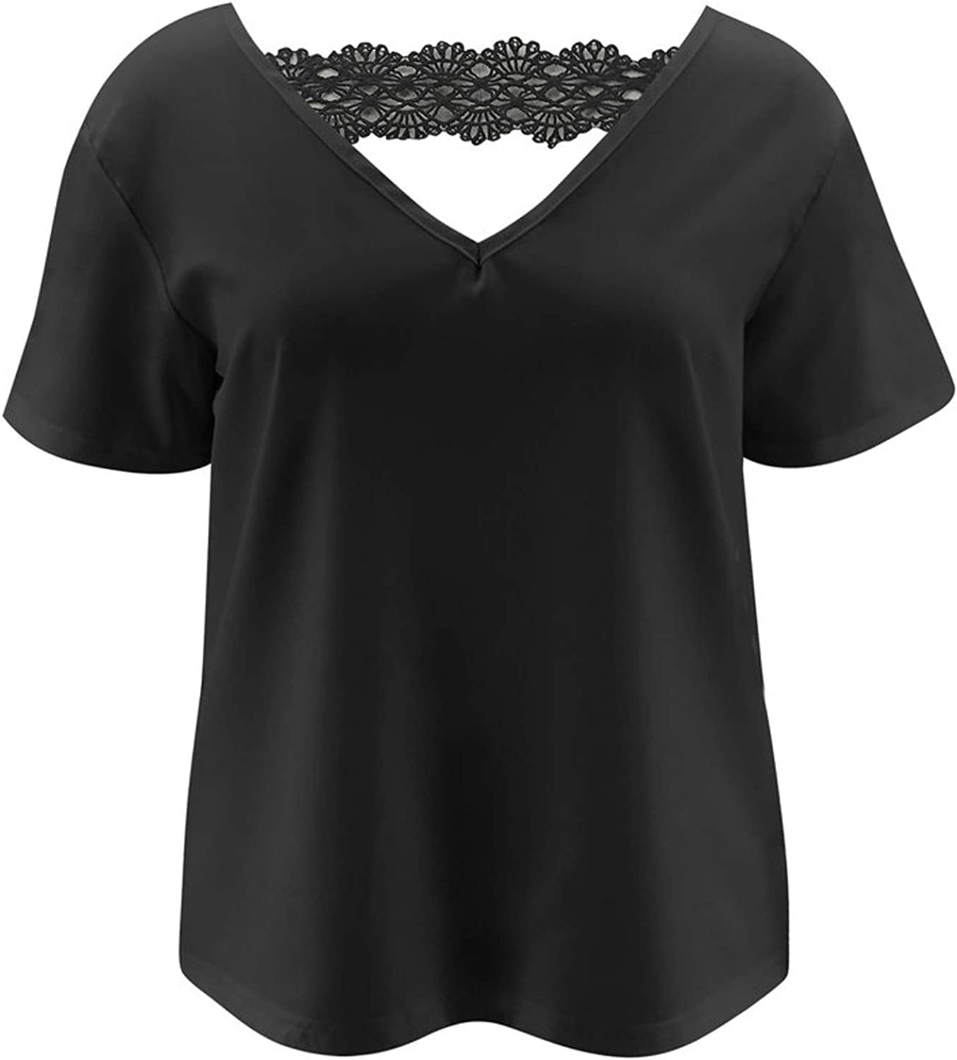 Aukbays Womens Long Sleeve Tops Scoop Neck Pleated Blouse Solid Color Graphic T-Shirts Loose Fit Blousees Tees Shirts