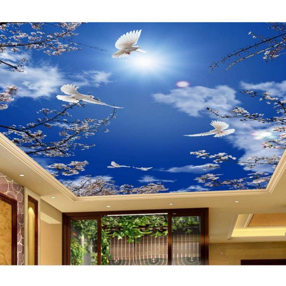 Custom 3d Ceiling Murals Cherry Blue Sky Pigeons Wallpaper For Bathroom 3d Ceiling Murals Painting Wallpaper On The Ceiling 200cmx140cm Buy Online In Armenia At Armenia Desertcart Com Productid 213593537
