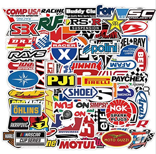 The Latest Racing Logo Sticker (100PCS) Modified car Motorcycle Skateboard Helmet Off-Road Decorative Sticker Parts Toolbox Waterproof Vinyl Sticker