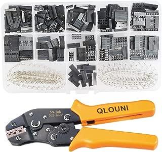 QLOUNI 2.54mm Pitch JST SM Pins & SN-28B Crimping Tools Dupont 620Pcs 1 2 3 4 5 6 Pin Housing Connector Male Female Crimp Pins Adaptor Assortment Kit