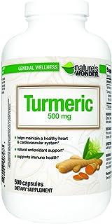 Nature's Wonder Turmeric 500mg Capsules 500 Count