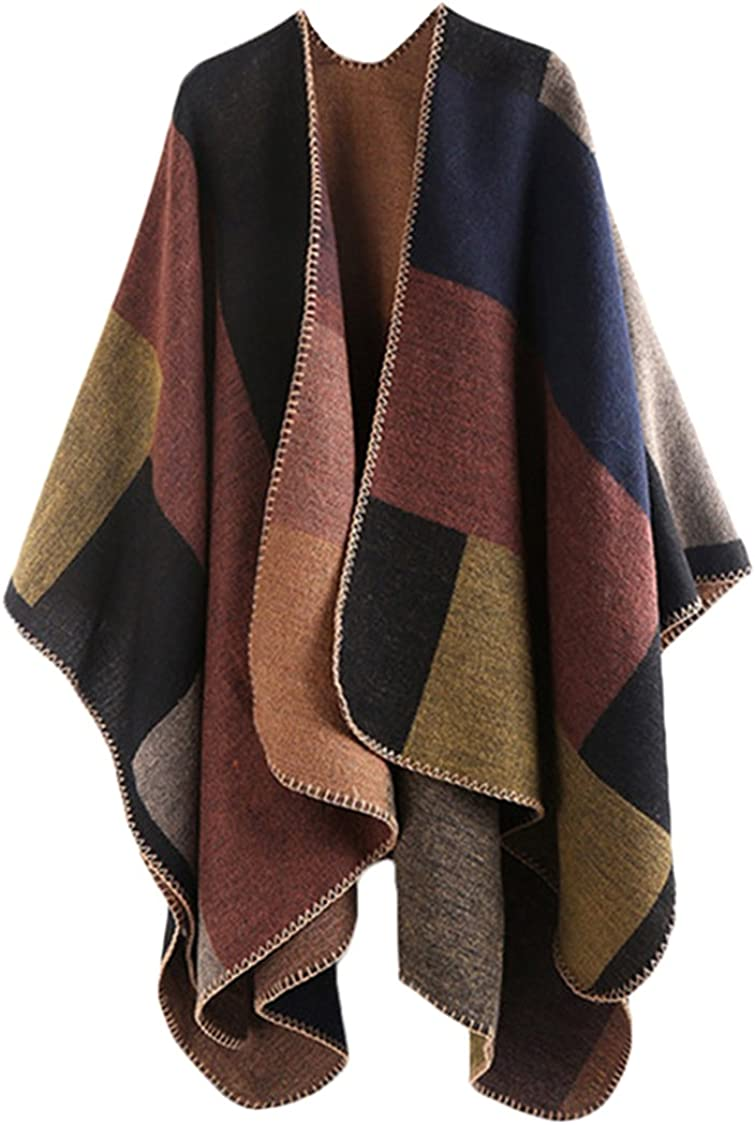 VamJump Women Poncho Open NEW before selling Front Knitted Manufacturer direct delivery Shawl Capes Swea Blanket