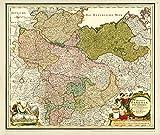 Historische Karte: Norddeutschland - mit den Herzogtümern Holstein, Mecklenburg, Lüneburg, Braunschweig, dem Herzogtum Magdeburg, der Grafschaft Dannenberg und dem Bistum Hildesheim, um 1720- (Plano)