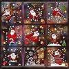 GeeRic クリスマス 窓 サンタクロース ステッカー 171枚 クリスマスステッカー 雪花 星 スノーマンパーティー ガラス 飾り 店舗装飾