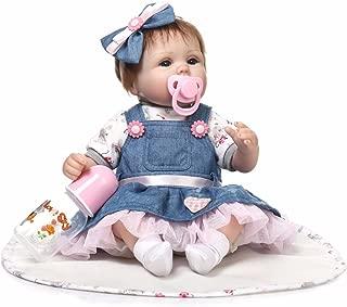 "Reborn Baby Doll, 100% Handmade Soft Silicone 22"" /55cm Lifelike Newborn Doll Girl for Children"