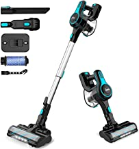 INSE Cordless Vacuum Cleaner, 6 in 1 Powerful Suction Lightweight Stick Vacuum with 2200mAh Rechargable Battery, Up to 45m...