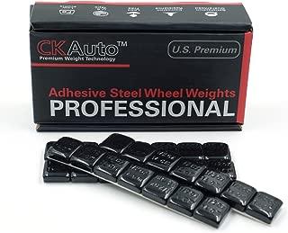 CKAuto 1/2oz, 0.5oz, Black, Adhesive Stick on Wheel Weights, GM, Ford, Chrysler, 63oz/Box, US Quality, (126pcs) …