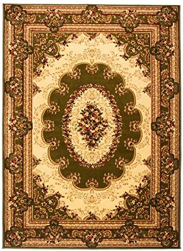 Carpeto Teppich Orientteppich Grün 140 x 190 cm Ornamente Konturenschnitt Muster Iskander...