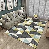 Alfombra habitación Matrimonio Alfombra de salón de Pelo Corto Azul Suave marrón Verde no se desvanece alfombras y moquetas alfombras pie de Cama 50x80cm 1ft 7.7