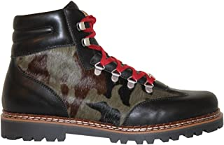 Ammann-SPRING SALE-MENS-Valbella 3- Black Leather & Camo Pdv-Euro 42 / USA 8.5-9.0