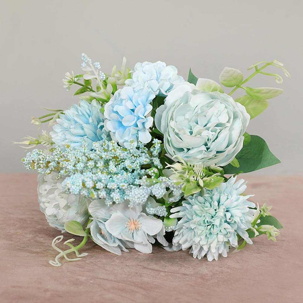 BAWAQAF Artificial Flowers Rose Max 68% OFF Bouquet Flowe Bride Max 49% OFF Holding Fake