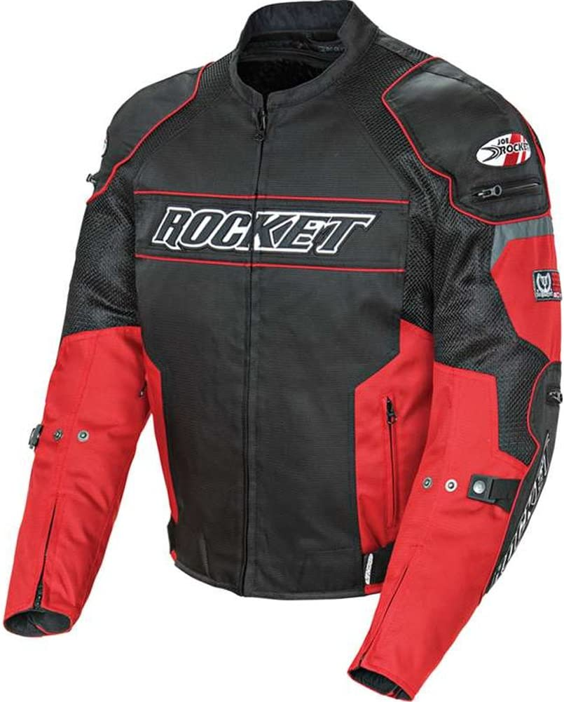 Joe Rocket Resistor Men's Mesh Motorcycle Jacket (Yellow/Black, Small)