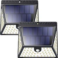 2 Pack ZOOKKI Solar Motion Sensor Lights for Outdoor use
