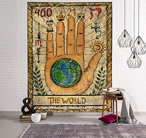 KHKJ Tapiz Rectangular de poliéster Mandala, Tapiz Indio para Colgar en la Pared, Alfombra de Yoga para decoración del Dormitorio del hogar, A2 150x130cm