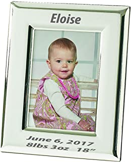 The Fine Swine Charles Silver Picture Frame with Rounded Edges - Free Engraving (4x6 Landscape)