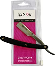 Stainless Steel Black Straight Edge Barber Cut Throat Razor Folding Shaving Shaver Without Blade