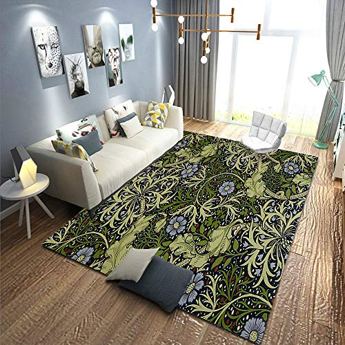 Not tapijten, macro bladeren, voor de winter, zonder bladeren, eiken takken, natuurlijk patroon, wit en zwart, tapijten en tapijten, badmat, 90 x 120 cm 90×120CM(2.9'×3.9') A03