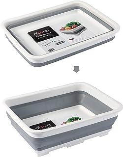 DIVCHI Lavabo pliable et portable en mousse avec bol à vaisselle rétractable et épais