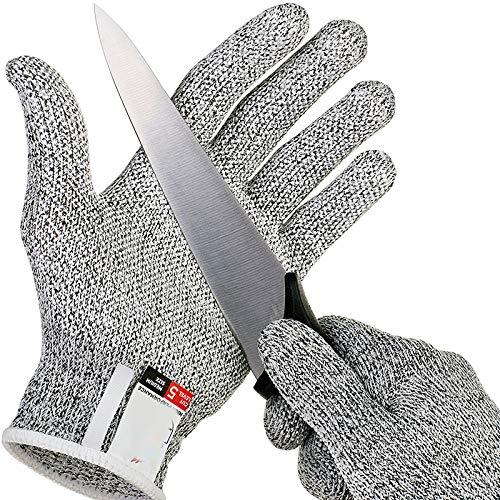 MASUNN Anti-skärningshandskar säkerhetsskärsäker ståtlig rostfritt stål tråd metall nät kök slaktare skärtåliga säkerhetshandskar, L, 1